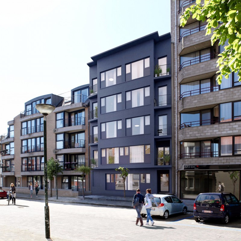 Project van 9 appartementen in De Panne