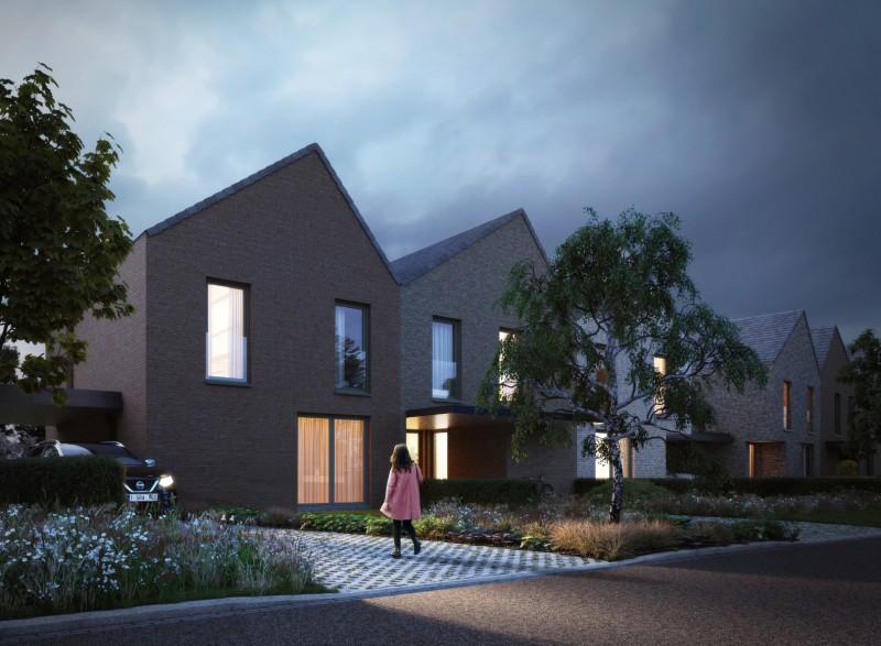 Project Wittewalle: 3 nieuwe gezinswoningen te Gent