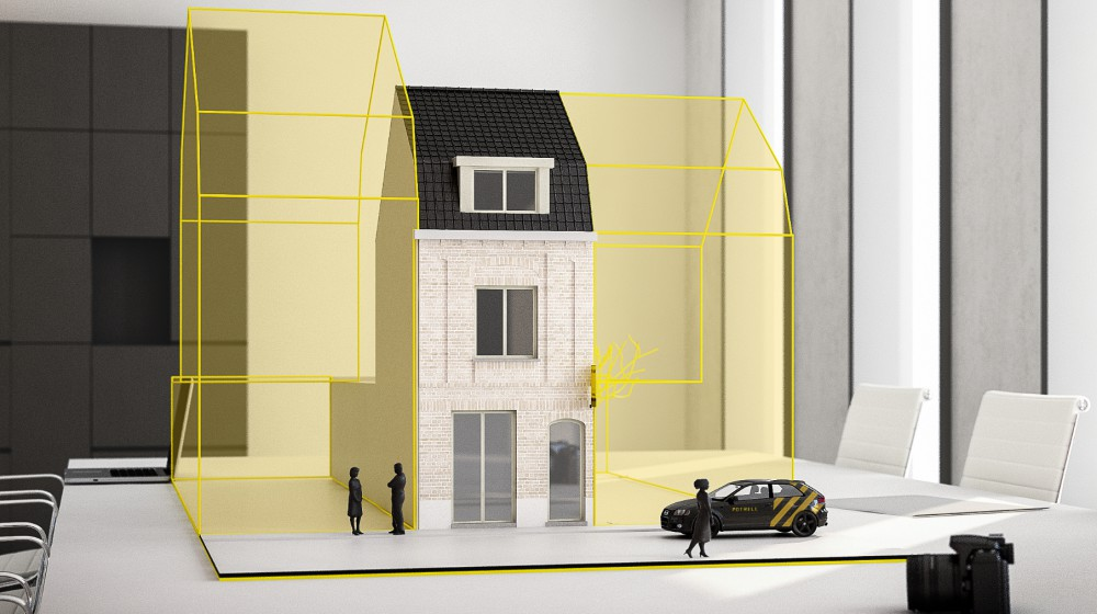Gerenoveerde woning met 3 kamers in historisch Ieper op groot perceel