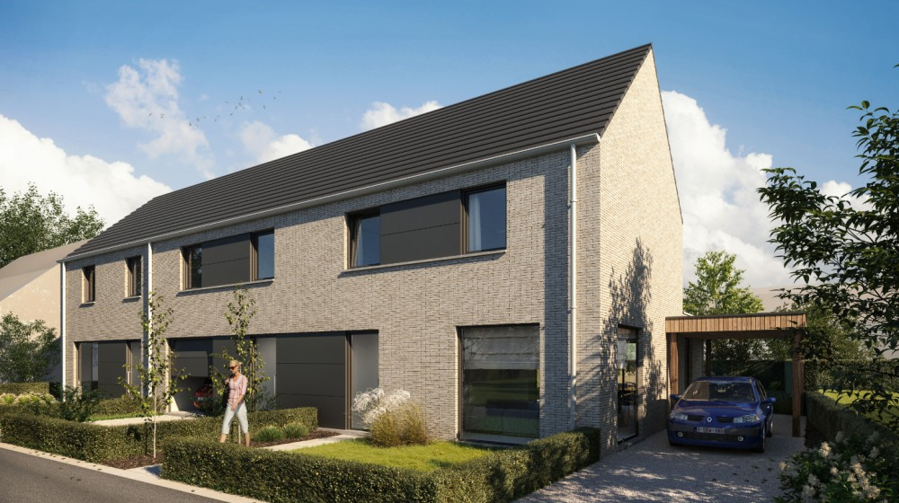 Project Molenstraat: 3 moderne nieuwbouwwoningen te Pittem