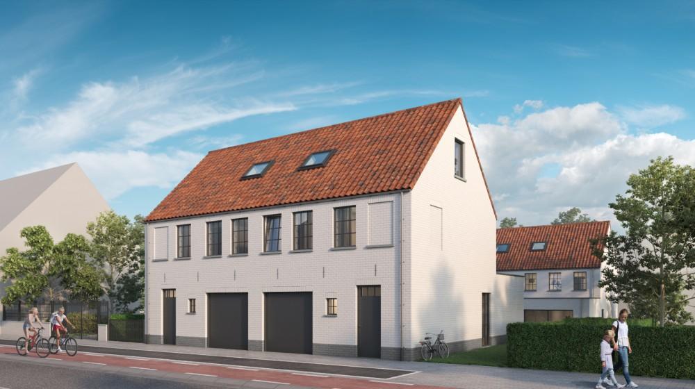 4 halfopen woningen met garage op steenworp van zee te Middelkerke