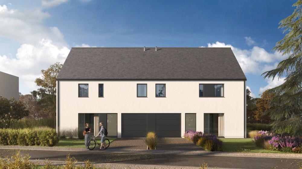 2 strakke halfopen nieuwbouwwoningen met garage te Destelbergen