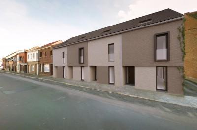 Project van 4 eigentijdse woningen en 15 garages in Heule