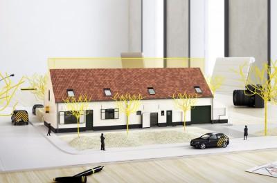 2 karaktervolle woningen met tuin te Sint-Kruis