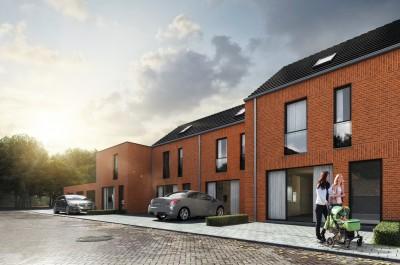 Woonproject van 4 nieuwbouwwoningen met tuin en garage in Ardooie