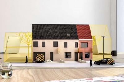 Project van 1 renovatie- en 2 nieuwbouwwoningen te Torhout