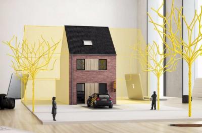 Moderne nieuwbouwwoning met tuin te Gent