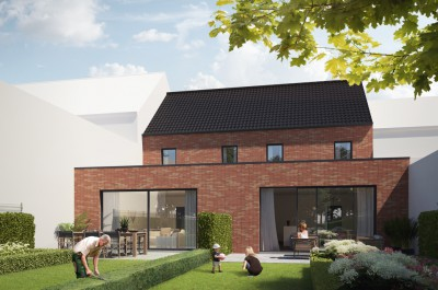Nieuwbouwwoning met tuin & garage in Wevelgem